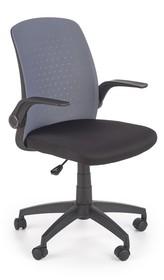 Fotel biurowy SECRET - popiel/czarny