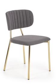 Krzesło K362 - ciemny popiel/ złoty