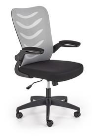 Fotel biurowy LOVREN - popiel/czarny