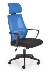 Fotel biurowy VALDEZ - niebieski/czarny