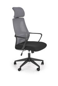 Fotel biurowy VALDEZ - popielaty/czarny