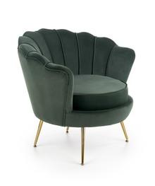 Fotel AMORINITO - ciemny zielony/złoty