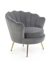 Fotel AMORINITO - popiel/złoty