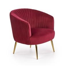 Fotel CROWN - bordowy/złoty