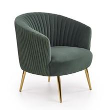Fotel CROWN - ciemny zielony/złoty