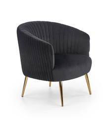 Fotel CROWN - czarny/złoty