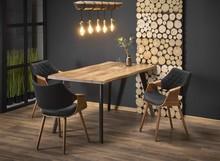 Stół rozkładany DICKSON 150x90 - naturalny/czarny