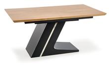 Stół rozkładany FERGUSON 160x90 - naturalny/czarny