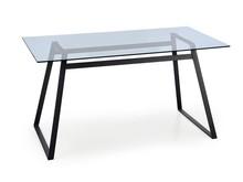Stół szklany HERALD 140x80 - czarny
