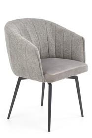 K378 krzesło z funkcją obracania popielaty