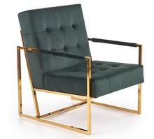 Fotel PRIUS - ciemny zielony/złoty
