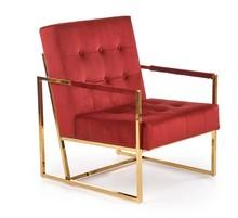 Fotel PRIUS - bordowy/złoty