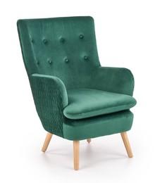 Fotel RAVEL - ciemny zielony/naturalny