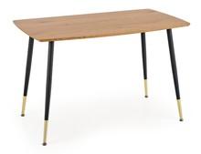 Stół TRIPOLIS 120x70 - dąb złoty/czarny
