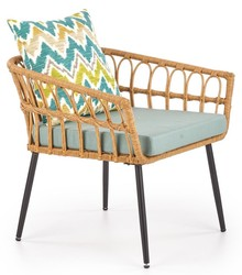 Fotel GARDENA 1S - naturalny/popielaty