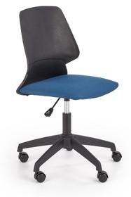 Fotel młodzieżowy GRAVITY - czarny/niebieski
