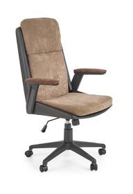 Fotel gabinetowy HERBIC - brązowy/czarny