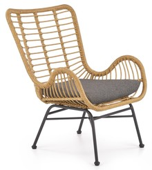 Fotel IKARO - naturalny / popielaty
