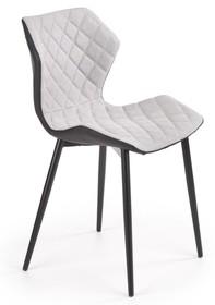 Krzesło K389 - jasny popiel/czarny