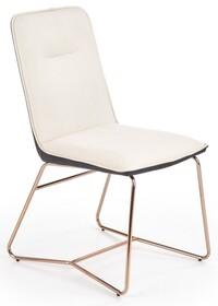 Krzesło K390 - kremowy/ciemny popiel