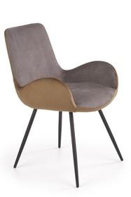 Krzesło K392 - popiel/brązowy