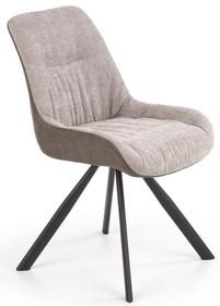 Krzesło K393 - jasny popiel/brązowy