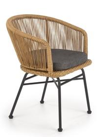 Krzesło K400 - naturalny/popielaty
