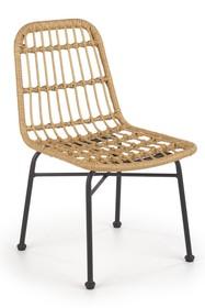 Krzesło K401 - czarny/naturalny
