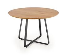 Stół okrągły LOOPER 2 120 cm - dąb złoty/czarny