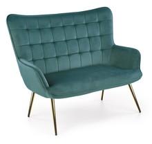 Sofa CASTEL 2 XL - ciemny zielony/ złoty
