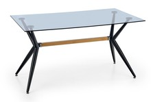 Stół szklany FINLEY 140x80 - czarny