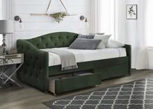 Łóżko z szufladami ALOHA 90 - ciemny zielony