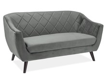 Sofa MOLLY 2 VELVET - szary Bluvel 14