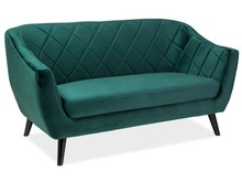 Sofa MOLLY 2 VELVET - ciemny zielony Bluvel 78