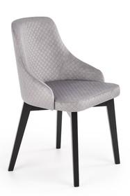 Krzesło TOLEDO 2 BIS velvet - jasny popiel