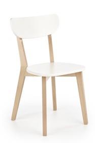 Krzesło BUGGI - naturalny/biały