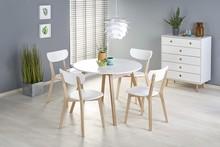 Stół rozkładany RUBEN 102 cm - biały/dąb miodowy