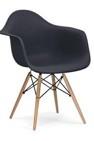 Fotel DAW antracytowy.39 - polipropylen, podstawa bukowa