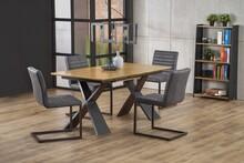 Stół rozkładany CHANDLER - dąb naturalny / czarny