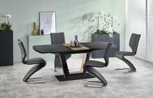 Stół rozkładany FARREL 160x90 - czarny/orzechowy