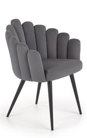 K410 krzesło popielaty velvet
