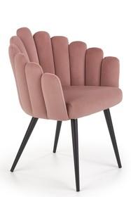 K410 krzesło różowy velvet