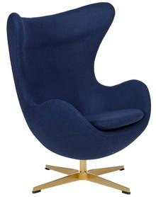 Fotel EGG CLASSIC GOLD - atlantycki niebieski