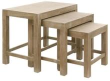 Zestaw trzech stolików kawowych, drewno, 50x65x40 cm (JL91944)