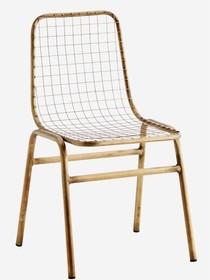 Druciane, metalowe krzesło,postarzane, szerokość 48cm (G020)