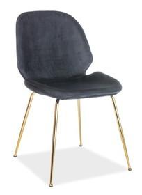 Krzesło ADRIEN VELVET - czarny Bluvel 19