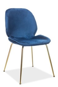 Krzesło ADRIEN VELVET - granatowy Bluvel 86