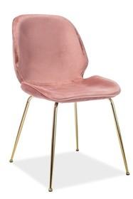 Krzesło ADRIEN VELVET - różowy Bluvel 52