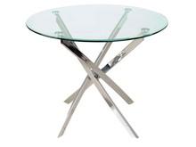 Stół AGIS - transparentny/chrom