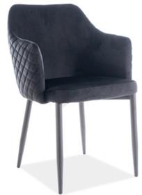 Krzesło ASTOR VELVET- czarny Bluvel 19